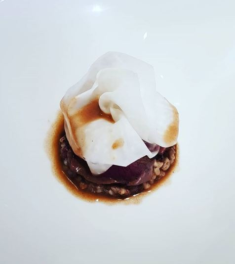 Restaurant Aigue Marine boeuf risotto sarrasin céleri