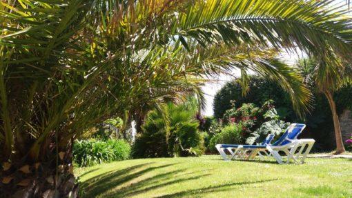 Hotel restaurant Aigue Marine jardin Treguier