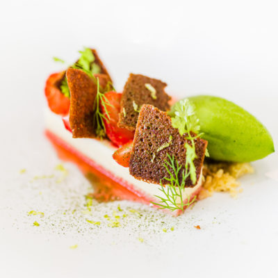 Hotel-Aigue-marine-2019-Restaurant-Dessert-Entremet-fraise-Sorbet-aux-herbes-Minis-207-400x400